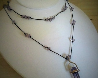 Knotted Amethyst Multistrand Necklace