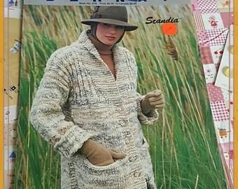 1985 Bernat Scandia #576 Cardigan or Jacket Knitting Pattern OOP