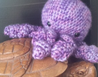 Purple Crochet Octopus