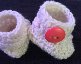 Adorable Baby Booties with Button