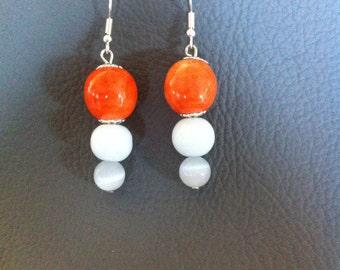 earring in ceramic
