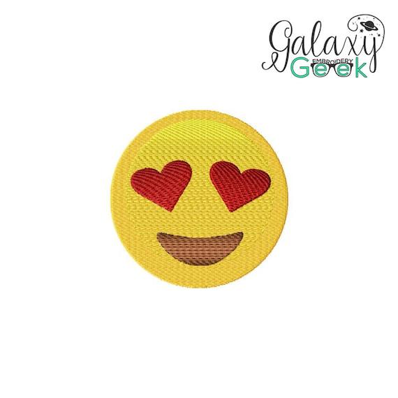 Emoji love machine embroidery design fun unique