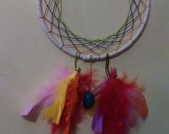 Dream Catcher With Turquoise Gemstone Bead