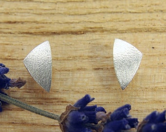 Earrings Silver 925 /-, triangle Matt tagged beat
