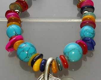 Murano-style Glass Bead Bracelet Handmade in Seattle, USA