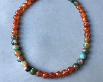 Faceted Agate Necklace