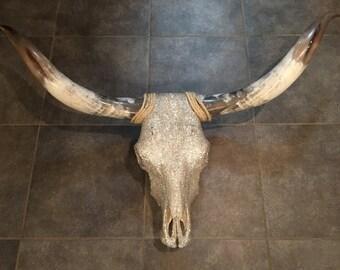 Swarovski Crystal Steer Skull and Horns