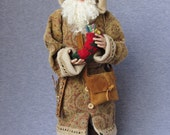Handcrafted Santa -SALE- Old World Father Christmas- OOAK Sculpted Santa Claus by Nonna's Santas- Merry Christmas- Tis The Season