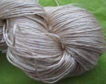 FINGERING Sea Silk, Fingering Weight Silk and Sea Cell Ecru Yarn Base, Fingering Undyed Yarn, 70/30 Silk Sea Cell Undyed Yarn