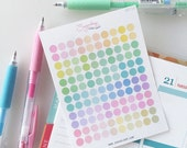120 x 0.25 inch spectrum, tiny, mini, dots, planner stickers, pastel, rainbow, bullet points, daily dots, task,to do, highlight, DOT11