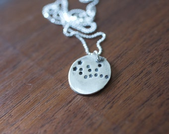 Virgo Constellation Necklace Zodiac Necklace - Gift for her September Birthday Gift Sterling Silver Virgo Pendant Small Virgo Simple Virgo