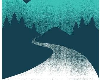 Rock Poster Screenprint for My Morning Jacket - Salt Lake City - Hand Pulled Silkscreen Print Poster Art