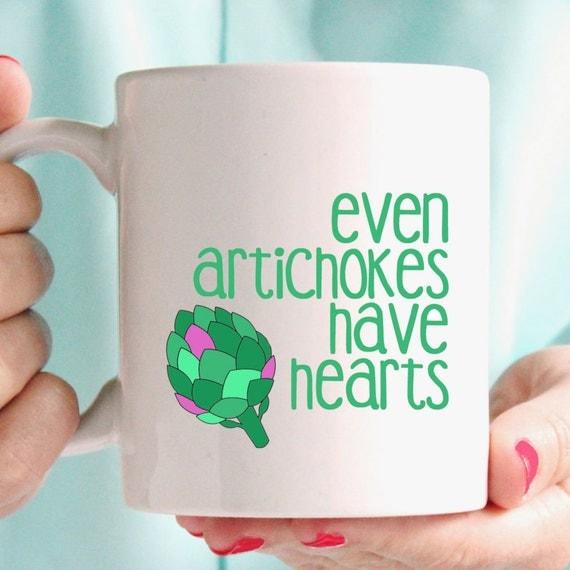 Amelie - Even artichokes have hearts mug