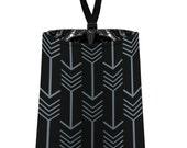 Car Trash Bag // Auto Trash Bag // Car Accessories // Car Litter Bag // Car Garbage Bag - Arrows -Dark Grey and Black // Car Organizer