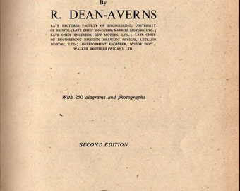 Automobile Chassis Design + R. Dean-Averns + 1952 + Vintage Book