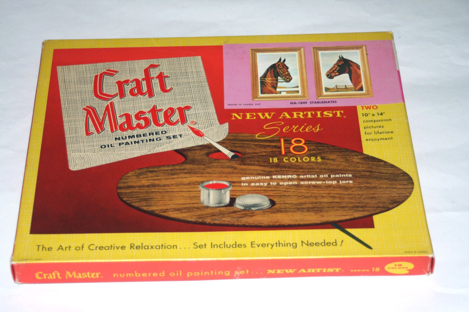 Craft master paint by number kits - Craft Master Stablemates Paint By Number Set Unused Vintage 1963