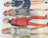 1960s Sewing Pattern Butterick 5132 Maternity Wardrobe: Dress, Jumper, Tunic, Skirt, Pants & Shorts