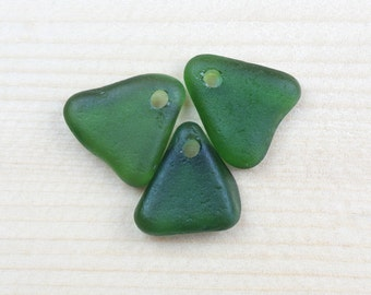 teal green, sea glass pendants, top drilled seaglass, craft supplies, handmade, jewelry making supplies, DIY, ecofriendly, beachglass