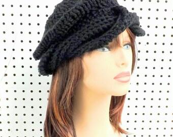 Black Crochet Hat Sun Hat Womens Hat Trendy,  Crochet Beanie Hat,  Turban Hat,  Samantha Turban Beanie,  Black Hat,  Summer Hat