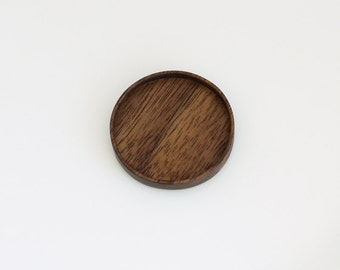 USA artisanal NO laser hardwood tray - Walnut - 38 mm cavity diam. (1.5 Inches) - (Z38-W)