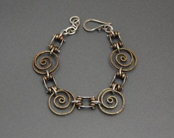 Hinged Spiral Bracelet