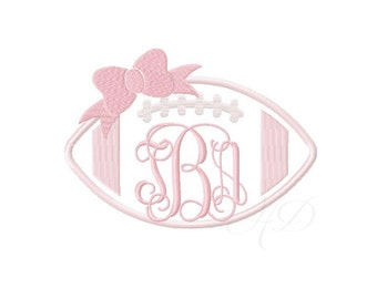 Football Bow Applique Embroidery Design Girl Sorority Embroidery Fill Stitch Embroidery Font Instant download BX 4x4 5x7 6x10 PES