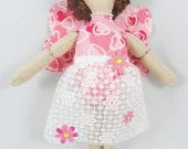 Valentine's Fairy Doll - Faerie Art Doll - Handmade Toy Doll
