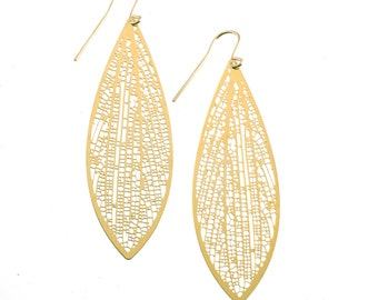 Cross-venulate Earrings (gold)