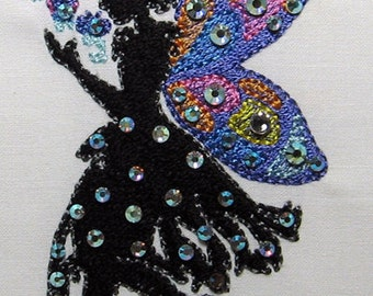 Midnight Crystal Fairies-10 Design Set + Bonus Project - Embroidery Designs