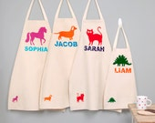 Personalized Apron, Kids Cooking Apron, Craft Apron, Cotton Apron, chef gift, girls birthday gift, boys birthday gift, toddler apron