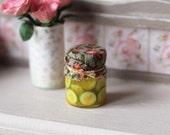 Dolls House Miniature Pickled Gerkins Jar 1:12 scale