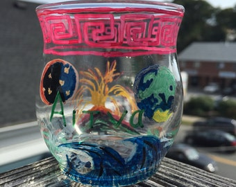 AITNA - Hand Painted Candle Holder