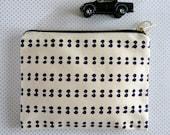 Spot Stripe patterned printed purse