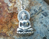 Buddha Charm Sterling Silver - Buddha Necklace Small