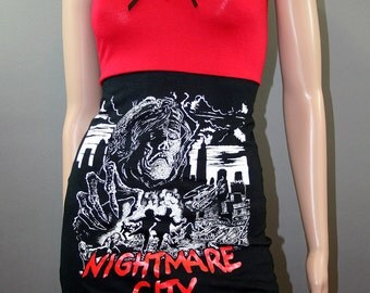 Nightmare City Horror Movie Zombie Tank Top Dress Shirt