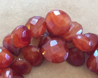 Cherry Chalcedony Faceted Briloettes.   (Item # 5364)