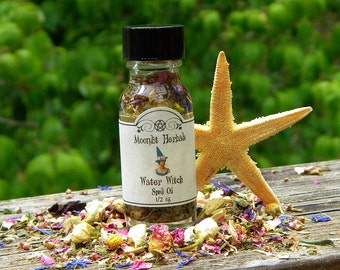 Water Witch Spell Oil - Purification, Peace, Serenity, Compassion, Emotion, Intuition, Going With the Flow, Water Elemental, Pagan, Wicca