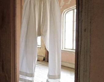 Civil War Era 1860s Ladies Split Leg Drawers Small/XS