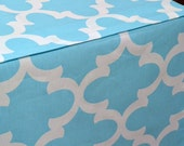 Designer Dog Crate Cover in ALL sizes - Choose from 100s of Premier Print Fabrics - Fynn Regatta Sky Blue shown - Dog Bed Duvet Covers
