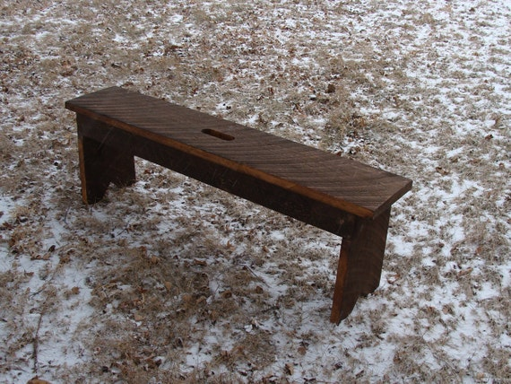 Rustic Wood Bench Entryway Bench Coffee Table Industrial Modern Bench, Custom