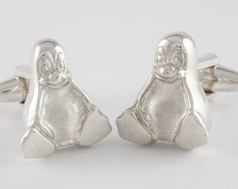 A Tribute to Tux, the Linux Penguin, Cufflinks, Sterling Silver