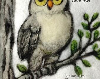 Needle Felt an Owl