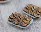 Grilled Eggplant Salad - 1:12 Dollhouse Miniature Food