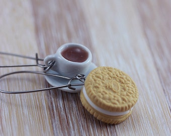 Cookie and Coffee Earrings