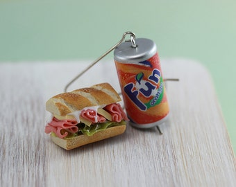 Hoagie and Soda Earrings