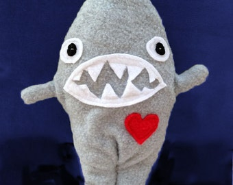 Sloan ~ The Shark Bummlie ~ Stuffing Free Dog Toy ~ Ready To Ship Today