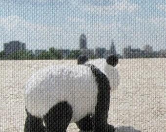 Pandascape Print - Mixed Media Art 8x10 Print