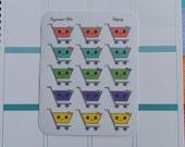 Shopping Cart Cute Kawaii PLANNER STICKERS