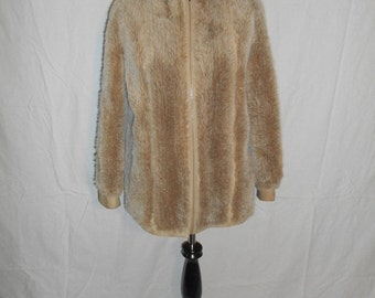 SALE LILLI ANN San Francisco suede leather   faux fur      jacket  Coat