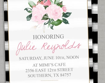 Shower Invitation -- Classic Chic -- Bridal Shower Baby Shower